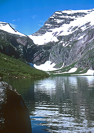 Gunsight Lake and Pass, Glacier