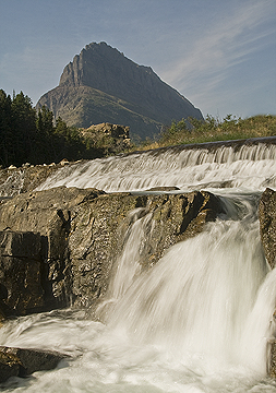Swiftcurrent Falls Glacier National Park Montana